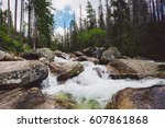 Waterfall In High Tatras