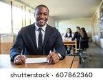 portrait of african american... | Shutterstock . vector #607862360