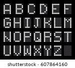 digital terminal table led font ...   Shutterstock .eps vector #607864160