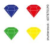diamond icon vector. blue.red....