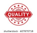 quality. grunge stamp   Shutterstock .eps vector #607870718