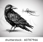 raven drawing high quality... | Shutterstock .eps vector #60787966