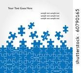 puzzle vector design   Shutterstock .eps vector #60790165