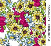abstract elegance seamless... | Shutterstock .eps vector #607904030