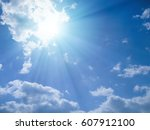 blue sky and sunshine | Shutterstock . vector #607912100