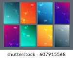 technology or modern abstract... | Shutterstock .eps vector #607915568