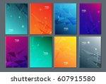 technology or modern abstract... | Shutterstock .eps vector #607915580