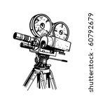 movie camera   retro clip art | Shutterstock .eps vector #60792679