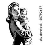 Mother And Child   Retro Clip...