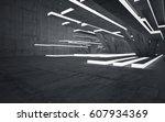 empty dark abstract concrete... | Shutterstock . vector #607934369