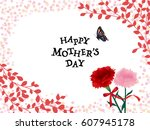 mother's day vintage greeting... | Shutterstock .eps vector #607945178