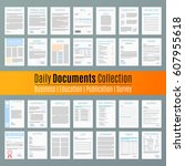 document icon contract business ... | Shutterstock .eps vector #607955618