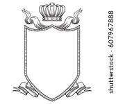 vector image of a heraldic... | Shutterstock .eps vector #607967888