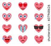 heart emotions.    Shutterstock .eps vector #607968626