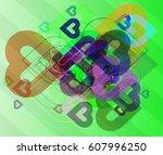 valentine elements background   Shutterstock .eps vector #607996250