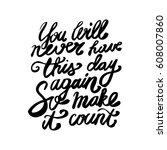 hand written lettering positive ...   Shutterstock .eps vector #608007860