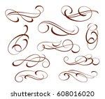 set decorative elements...   Shutterstock .eps vector #608016020