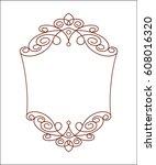 decorative frames.brown on...   Shutterstock .eps vector #608016320