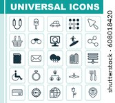 set of 25 universal editable...   Shutterstock .eps vector #608018420