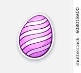 vector illustration. pink... | Shutterstock .eps vector #608018600