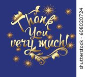 thank you very much ... | Shutterstock .eps vector #608020724