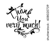 thank you very much ... | Shutterstock .eps vector #608020739
