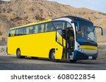 beautiful bus in the desert.... | Shutterstock . vector #608022854