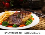 Grilled Beef Steak Served With...