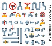 details pipes different types...   Shutterstock .eps vector #608031416