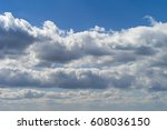 blue sky with a clouds.... | Shutterstock . vector #608036150