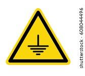 electric grounding sign  symbol ... | Shutterstock .eps vector #608044496