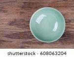 empty bowl on wood | Shutterstock . vector #608063204