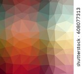 abstract low poly triangular... | Shutterstock . vector #608077313
