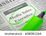 Stock photo media sales executive wanted d 608081264