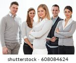 group of young business people .... | Shutterstock . vector #608084624