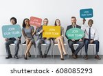 hiring career employment human... | Shutterstock . vector #608085293