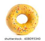 One Glazed Donut Isolated On...