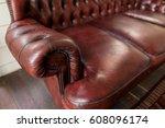 luxury leather sofa | Shutterstock . vector #608096174