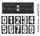 countdown timer. mechanical... | Shutterstock .eps vector #608099390