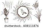 spring flower vintage...   Shutterstock .eps vector #608111876