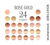 rose gold gradient collection... | Shutterstock .eps vector #608115428