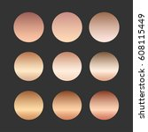 rose gold gradient collection... | Shutterstock .eps vector #608115449
