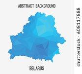 belarus map in geometric... | Shutterstock .eps vector #608117888