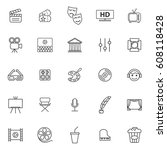 line icon collection ... | Shutterstock .eps vector #608118428