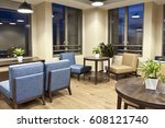 modern office interior  meeting ... | Shutterstock . vector #608121740