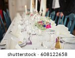 a very nicely decorated wedding ... | Shutterstock . vector #608122658