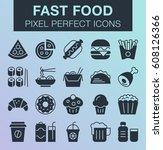 set of pixel perfect fast food...