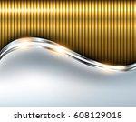 elegant metallic background ...   Shutterstock .eps vector #608129018