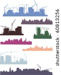 illustration with cities... | Shutterstock .eps vector #60813256