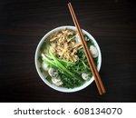 bun moc   traditional northern... | Shutterstock . vector #608134070